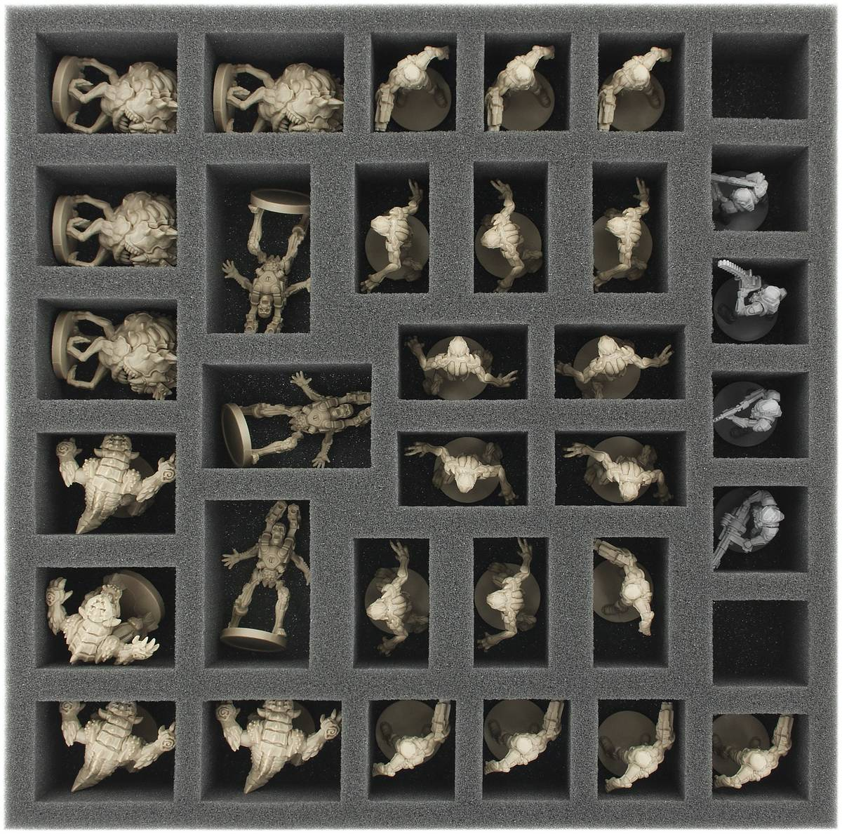AF050DO02 50 mm foam tray with 34 compartments for DOOM - standard miniatures