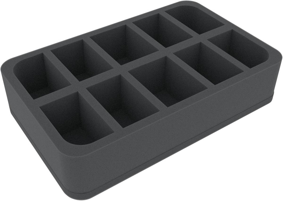 HSBE060BO (2.4 inches) half-size Figure Foam Tray with 10 slots