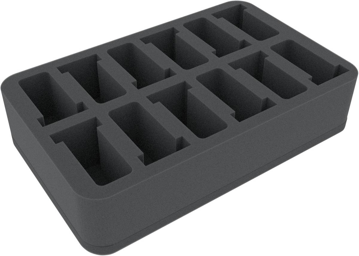 HSDT060BO 60 mm (2.4 inches) half-size Figure Foam Tray with 12 slots