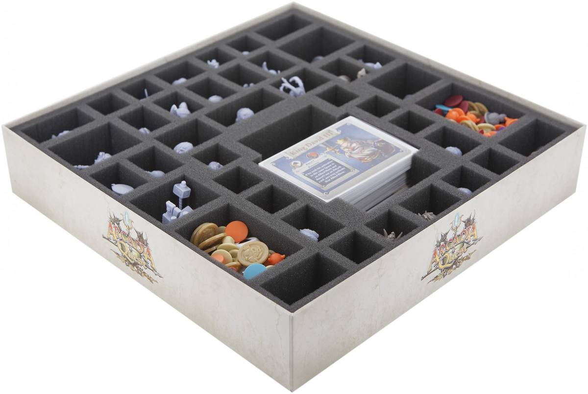 Foam tray value set for Arcadia Quest: Hell of a Box