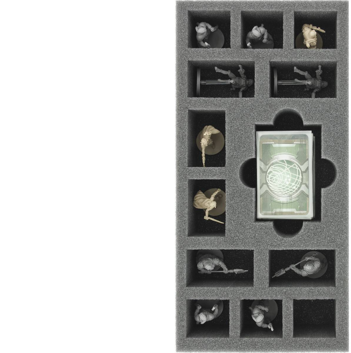 BEJH055BO 285 mm x 142,5 mm x 55 mm foam tray for Imperial Assault: Jabba's Realm