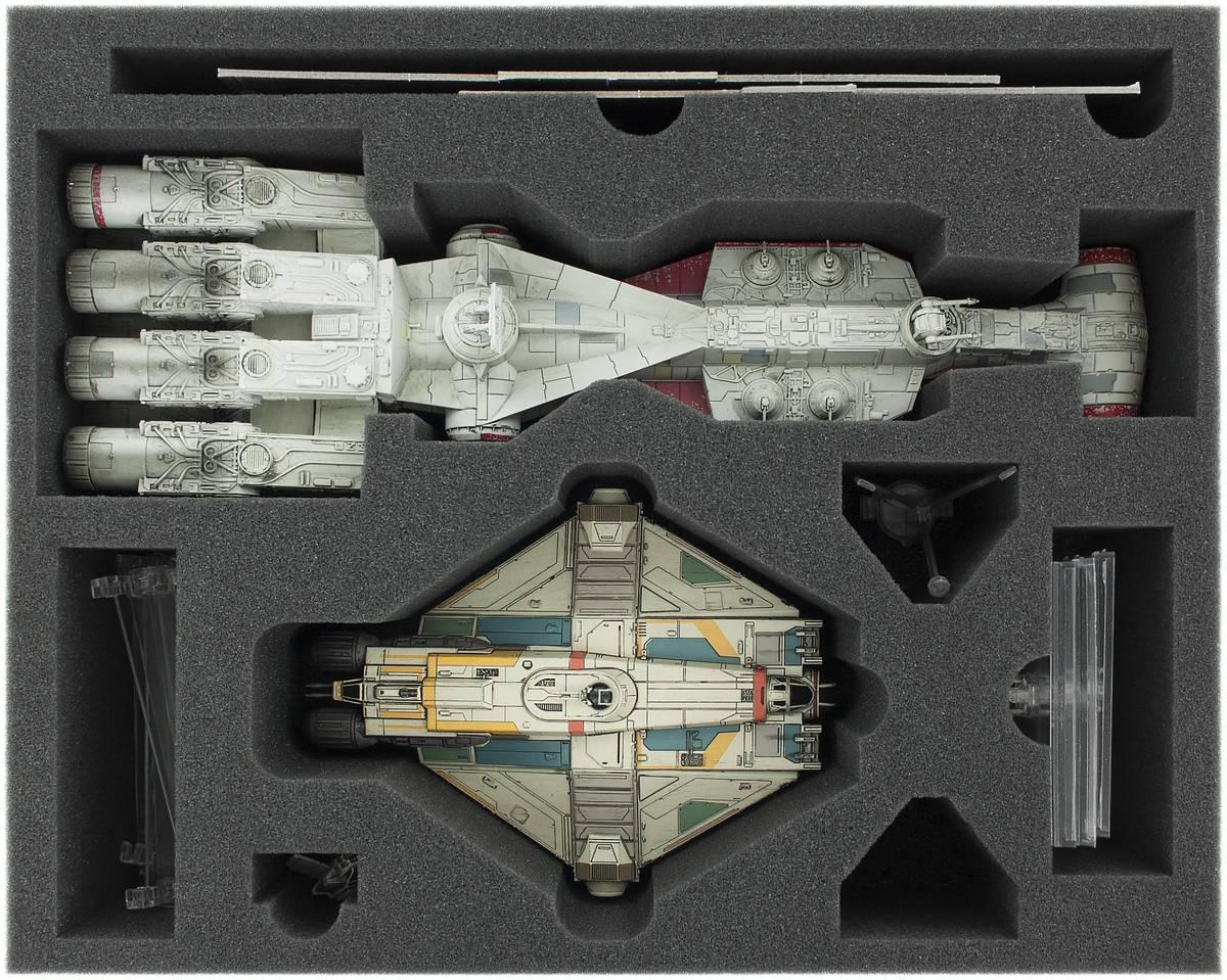 FSJN090BO 90 mm Full-Size Schaumstoffeinlage für Star Wars X-WING Tantive IV und Ghost
