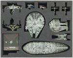 FSJP050BO 50 mm (2 inches) full-size foam tray for Star Wars X-WING Falcon, YT-2400, U-Wing, Rebel Transport 001