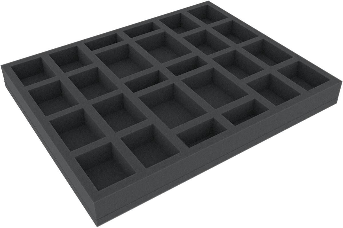 FSJQ035BO 35 mm (1.4 inches) full-size Figure Foam Tray with 26 slots