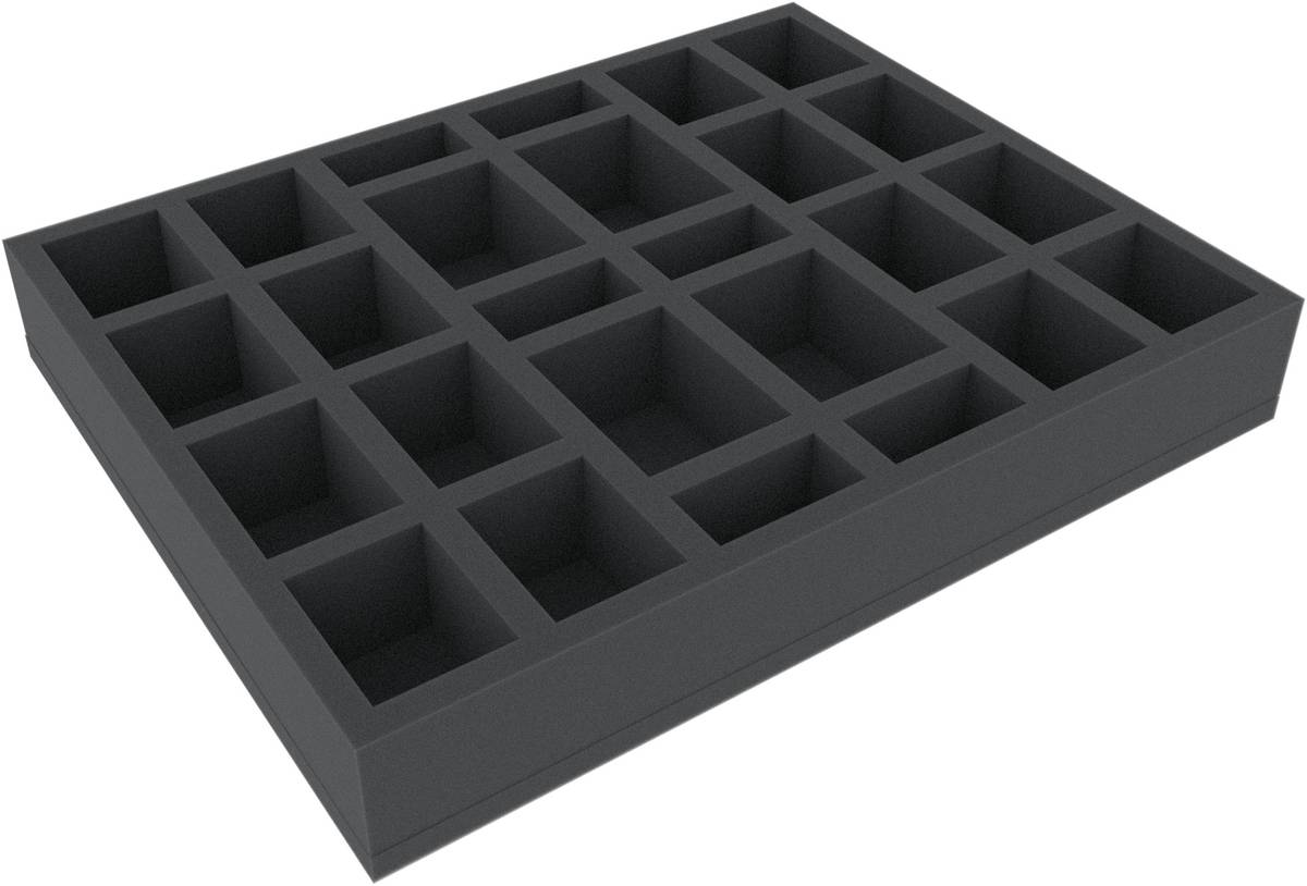 FSJQ050BO 50 mm (1.96 inches) full-size Figure Foam Tray with 26 slots