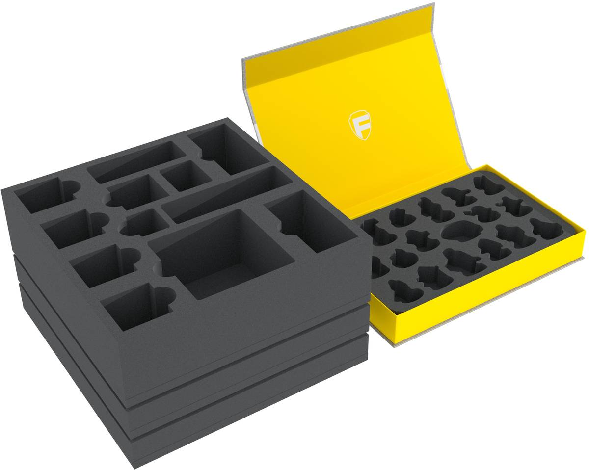 Feldherr foam set for the Gloomhaven board game box + Magnetic Box for miniatures