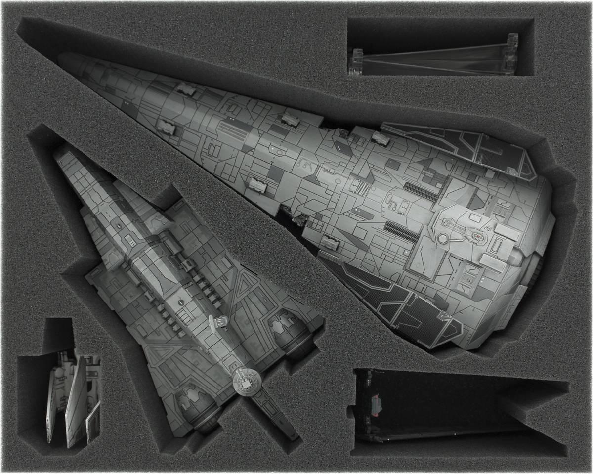 FSJT090BO 90 mm Full-Size Schaumstoffeinlage für Star Wars X-WING Imperiale Sturm-Korvette, Imperialer Angriffsträger, Shuttle der Lambda- und Ypsilon-Klasse