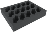 FSFR060BO 60 mm (2.4 inches) foam tray with 15 slots for Cavalry or Weapon Teams - full-size