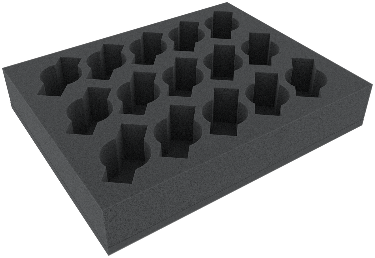 FSFR060BO 60 mm foam tray with 15 slots for Cavalry or Weapon Teams - full-size