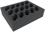 FSFR090BO 90 mm (3.54 inches) foam tray with 15 slots for Cavalry or Weapon Teams - full-size