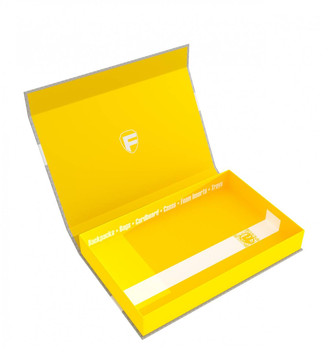 Feldherr Magnetic Box yellow Half-Size 40 mm empty