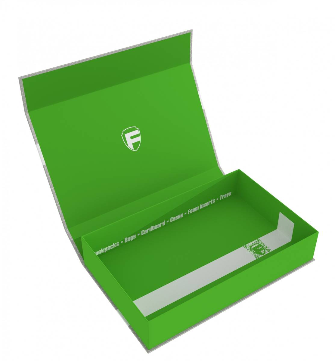 Feldherr Magnetbox grün Half-Size 55 mm leer