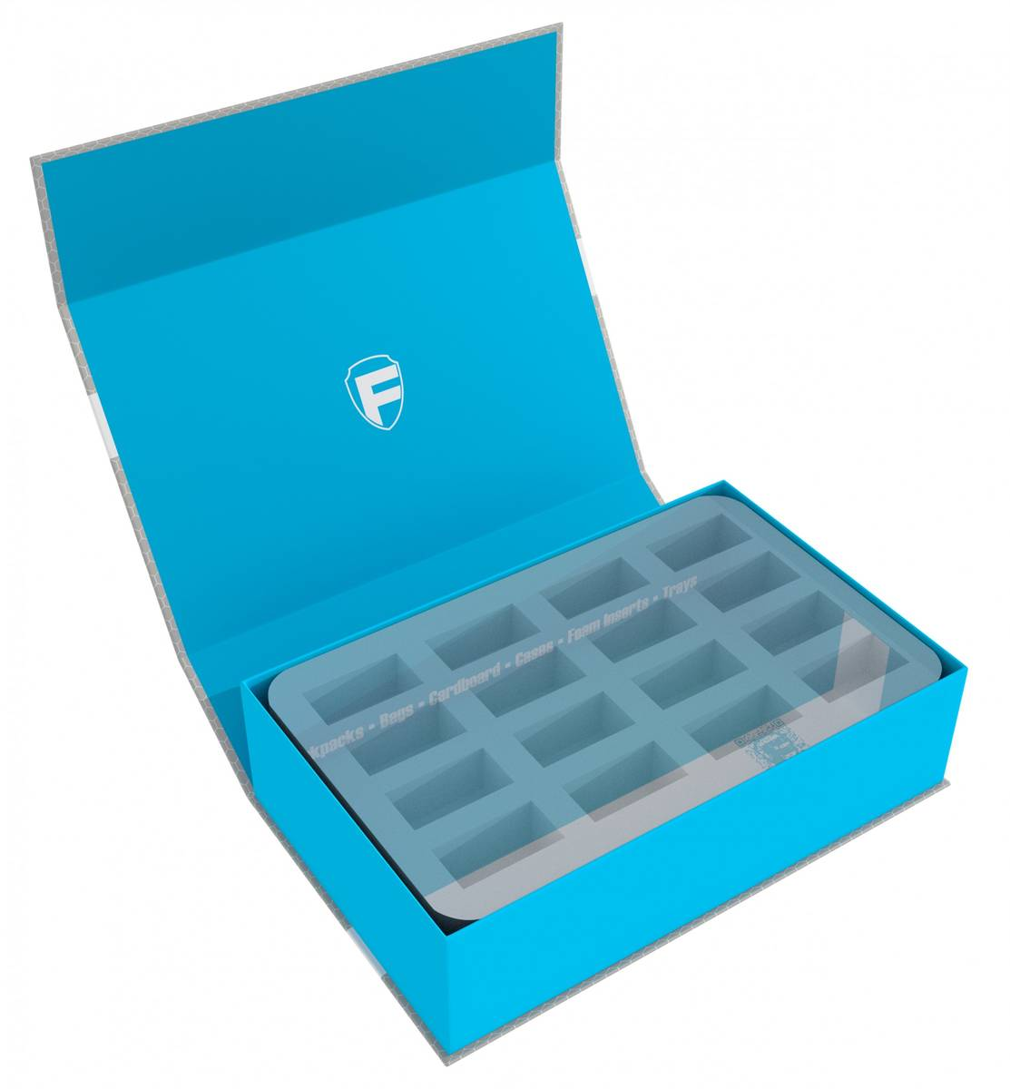 Feldherr Magnetic Box blue custom - 75 mm Half-Size foam trays of your choice