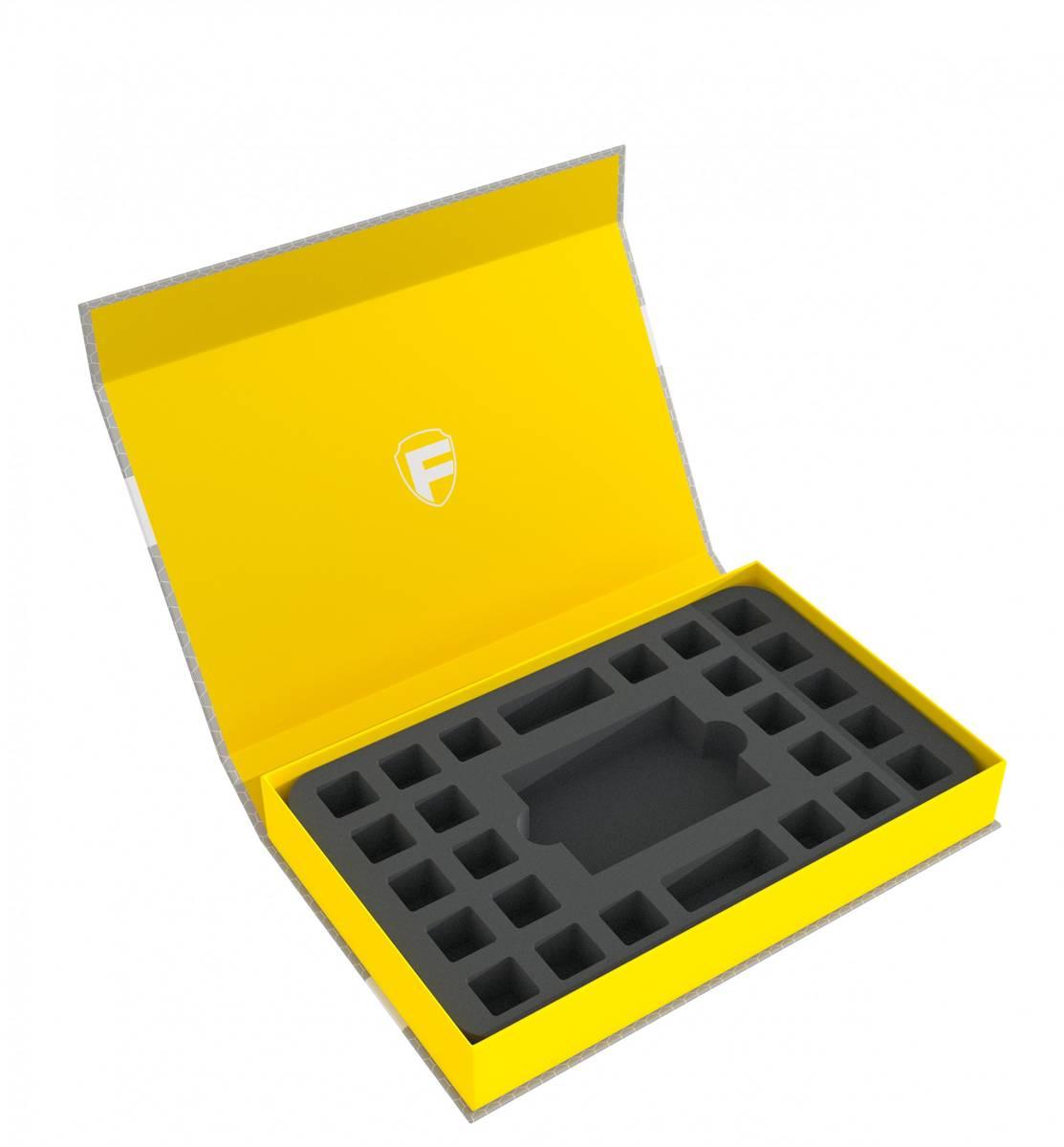 Feldherr Magnetbox gelb für Star Wars Destiny - 1 Deck und 24 Würfel