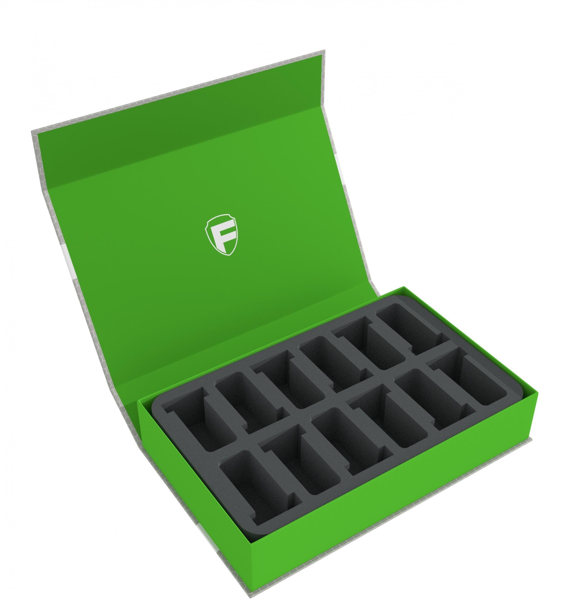 Feldherr Magnetic Box green for 12 GW Miniatures with 40 mm Base   Feldherr  Worldwide