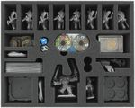 FSKH070BO 70 mm (2.75 Inch) foam tray with 21 compartments for Runewars Miniatures Game - Daqan-Lords units
