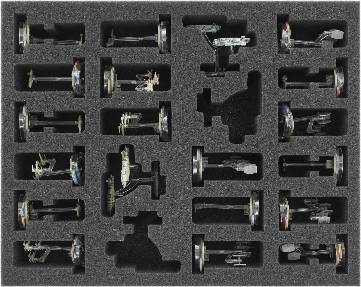 FSKT045BO 45 mm (1.77 inches) full-size foam tray for Star Wars Armada: Squadrons