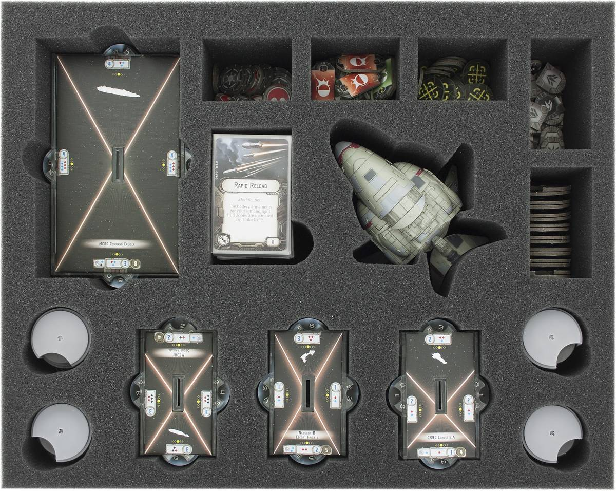 FSKR070BO 70 mm (2.75 inches) full-size foam tray for Star Wars Armada: Assault Frigate Mark II and accessories