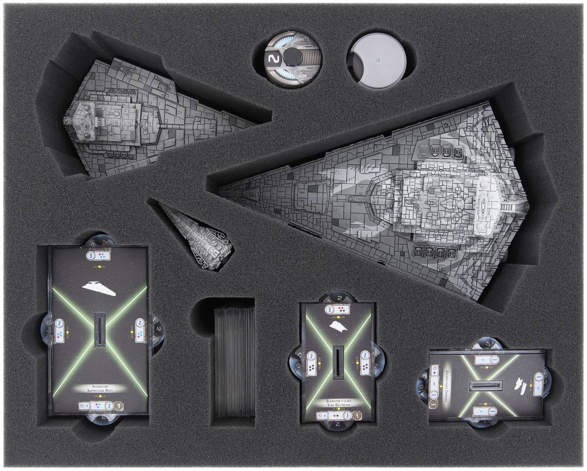 FSKP075BO 75 mm (2.95 inches) full-size foam tray for Star Wars Armada: Star Destroyer or Chimaera