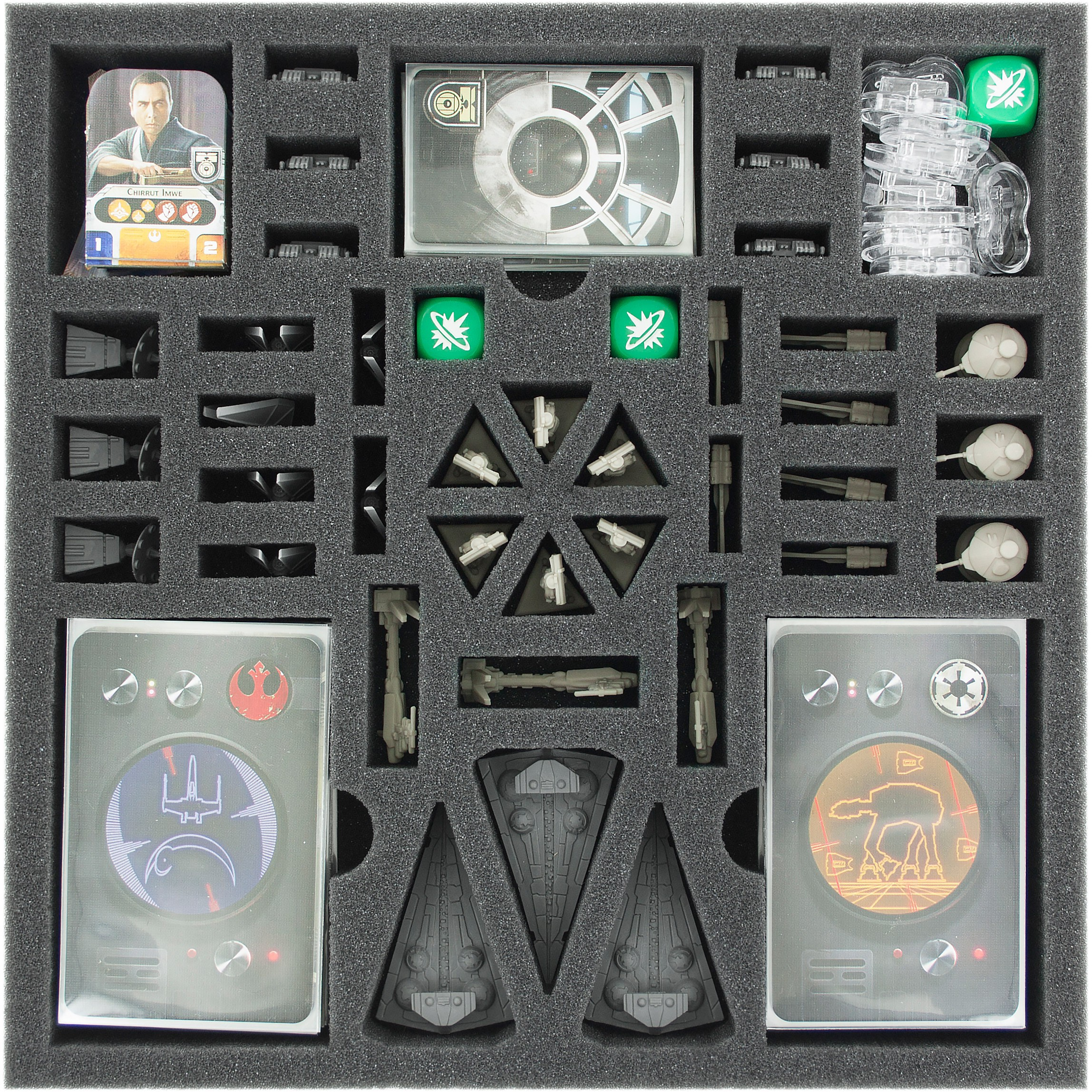 Foam Set For Star Wars Rebellion Rise Of The Empire Expansion Board Game Box Feldherr Figure Cases Free European Shipping Available I Store Bags Backpacks And Foam Tra