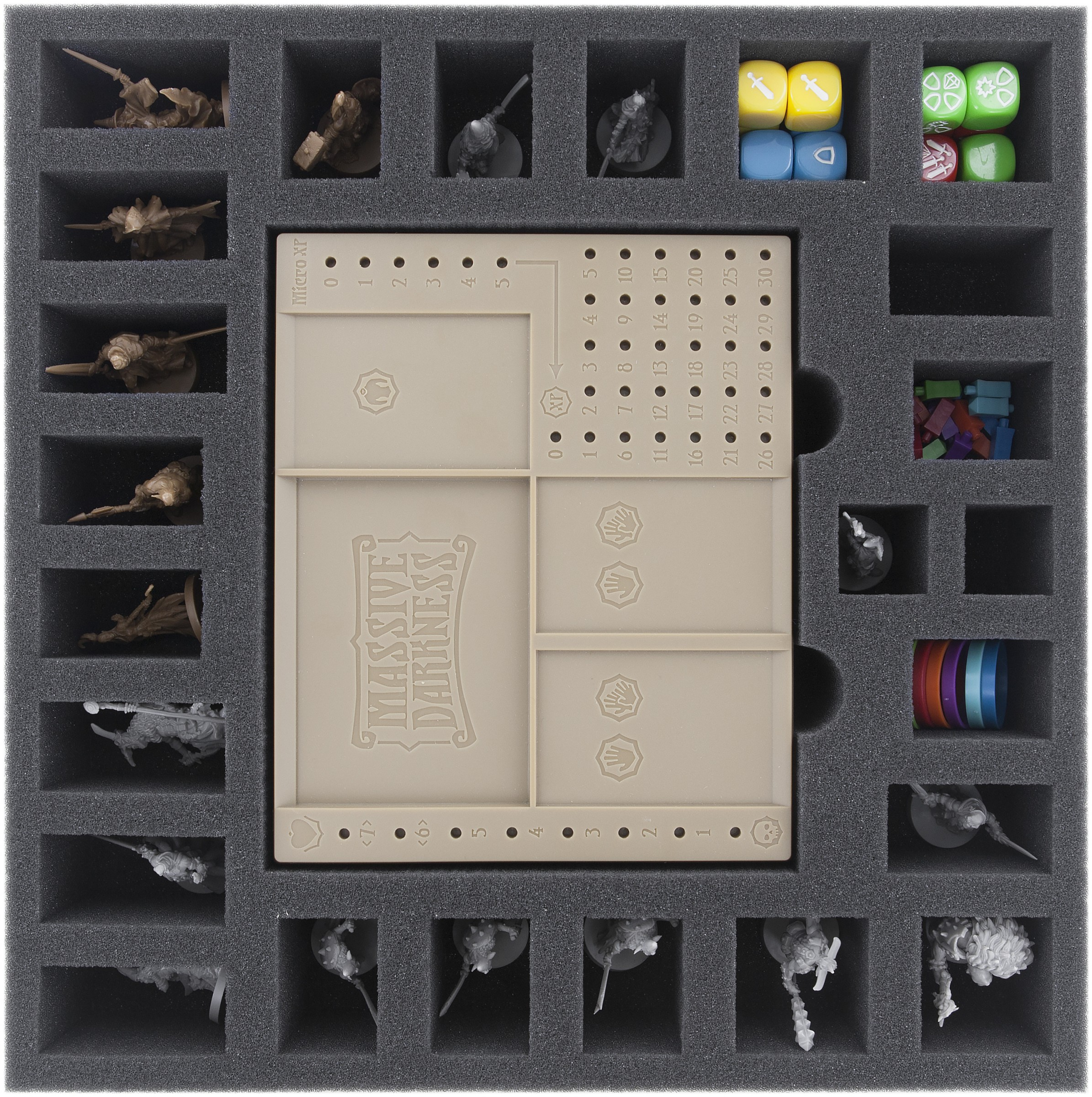 BHKW055BO 55 mm foam tray with 25 compartments for Massive Darkness -  Dashboards | Feldherr Worldwide