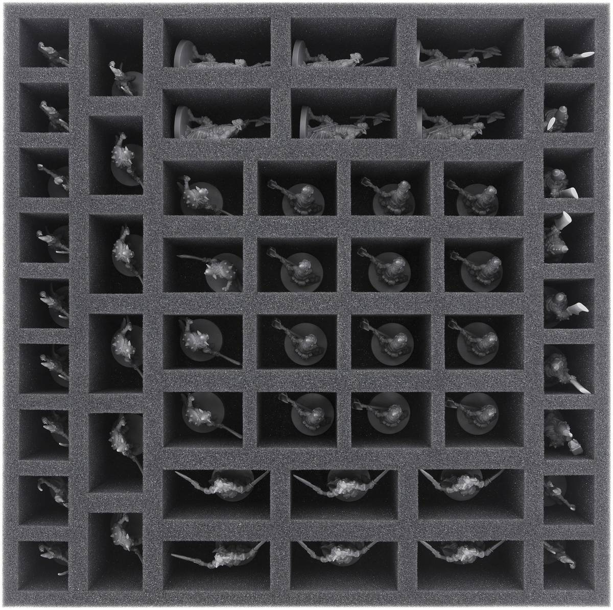 BHKX055BO 55 mm foam tray with 52 compartments for Massive Darkness - Units