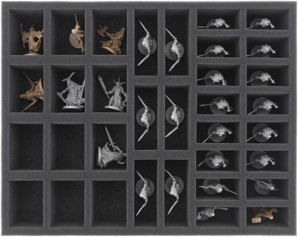 FS035MD02 35 mm (1.38 inches) full size foam tray with 34 compartments for Massive Darkness