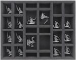 FS050MD04 50 mm (2 inches) full size foam tray with 26 compartments for Massive Darkness