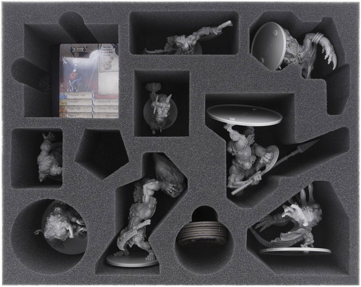 FSLF085BO 85 mm (3.35 inch) full-size foam tray for Massive Darkness Monsters
