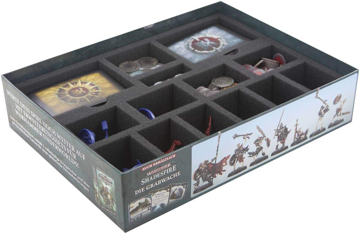 Feldherr foam tray for the original Warhammer Underworlds: Shadespire Core Box