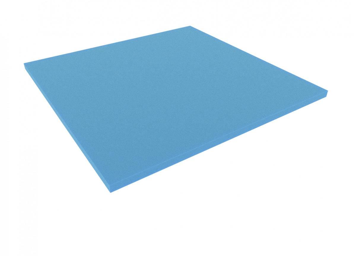 1000 mm x 1000 mm x 30 mm foam sheet blue
