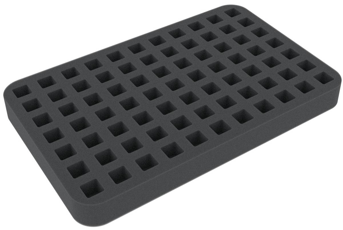 HSLN025BO 25 mm Half-Size foam tray with 77 compartments
