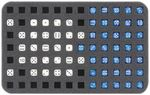 HSMC020BO 20 mm (0.79 inches) half-size foam tray 84 square cut-outs for dice