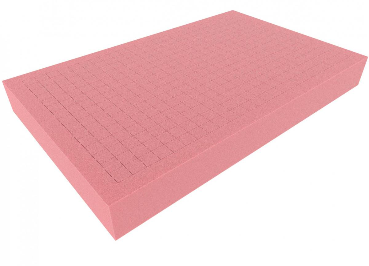 DS060RESD double-size Raster Foam Tray 60 mm (2.4 inches) - electrostatic dissipative