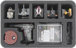 HSMEAD070BO 70 mm foam tray for Star Wars X-Wing B/SF-17 Resistance Bomber 001