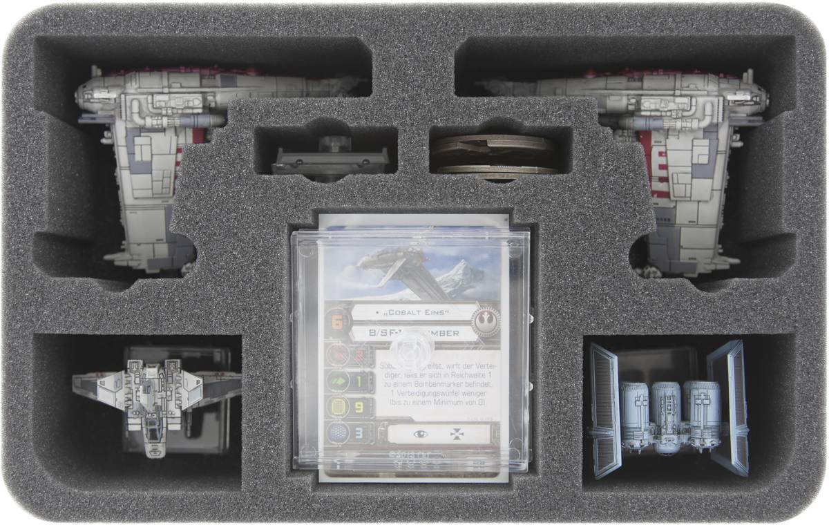HSMEAE070BO 70 mm foam tray for two Star Wars X-Wing B/SF-17 Resistance Bomber