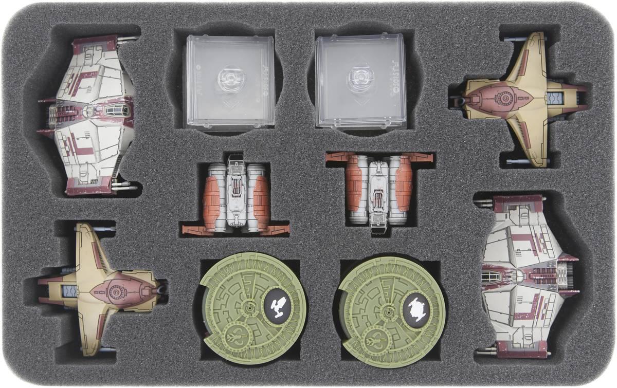 HSMEAH040BO 40 mm Schaumstoffeinlage für Star Wars X-WING Kimogila-Jäger, Scurrg H-6 Bomber und Quadjumper