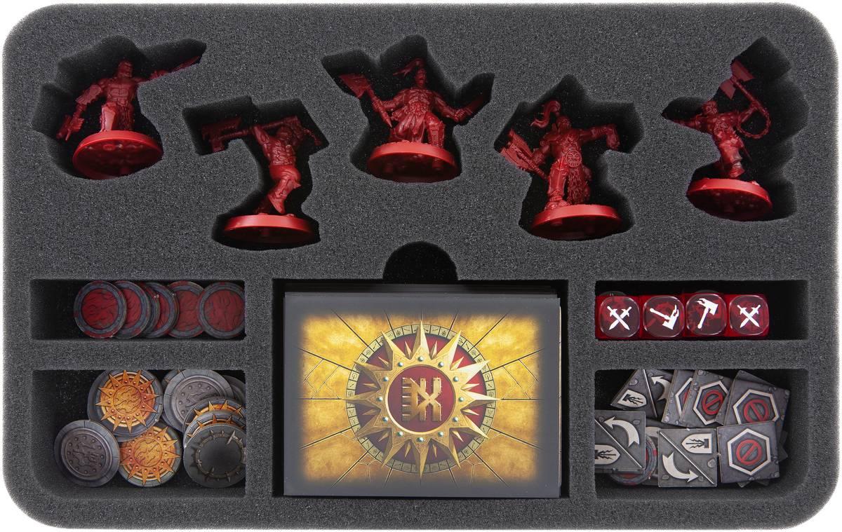 HSMEBA040BO foam tray for Warhammer Underworlds: Shadespire - Khorne Bloodbound
