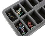 HS050WH20 50 mm (2 inch) half-size Figure Foam Tray with 16 slots
