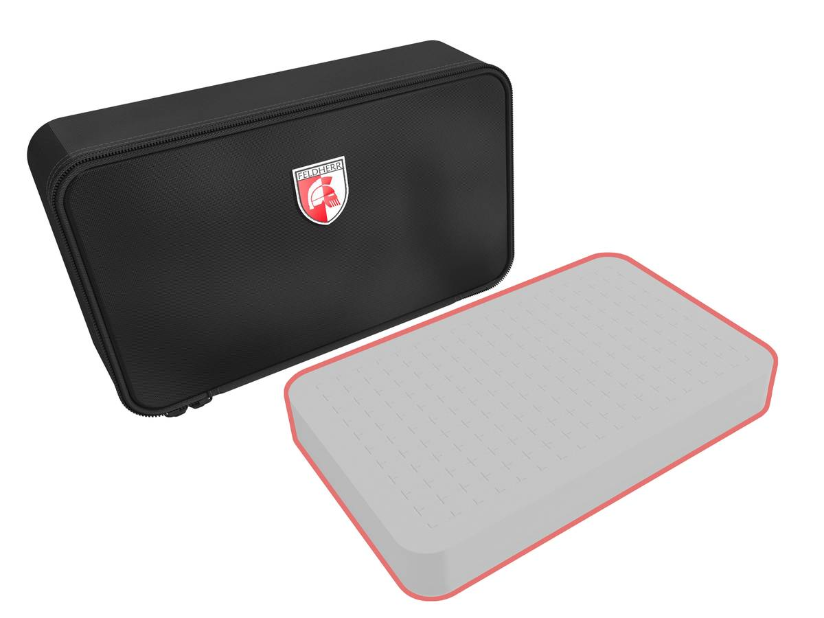 Feldherr MINI custom bag - 80 mm Half-Size foam trays of your choice