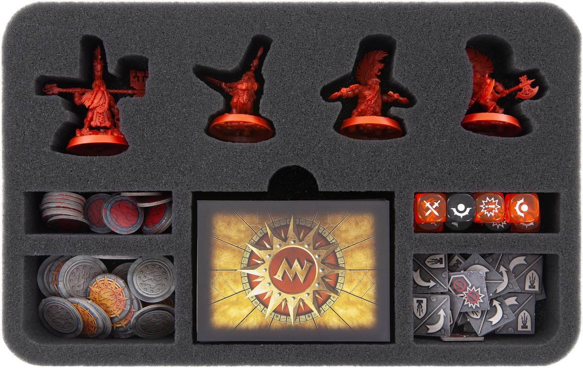 HSMEBC040BO Schaumstoffeinlage für Warhammer Underworlds: Shadespire – Die Auserwählten Äxte