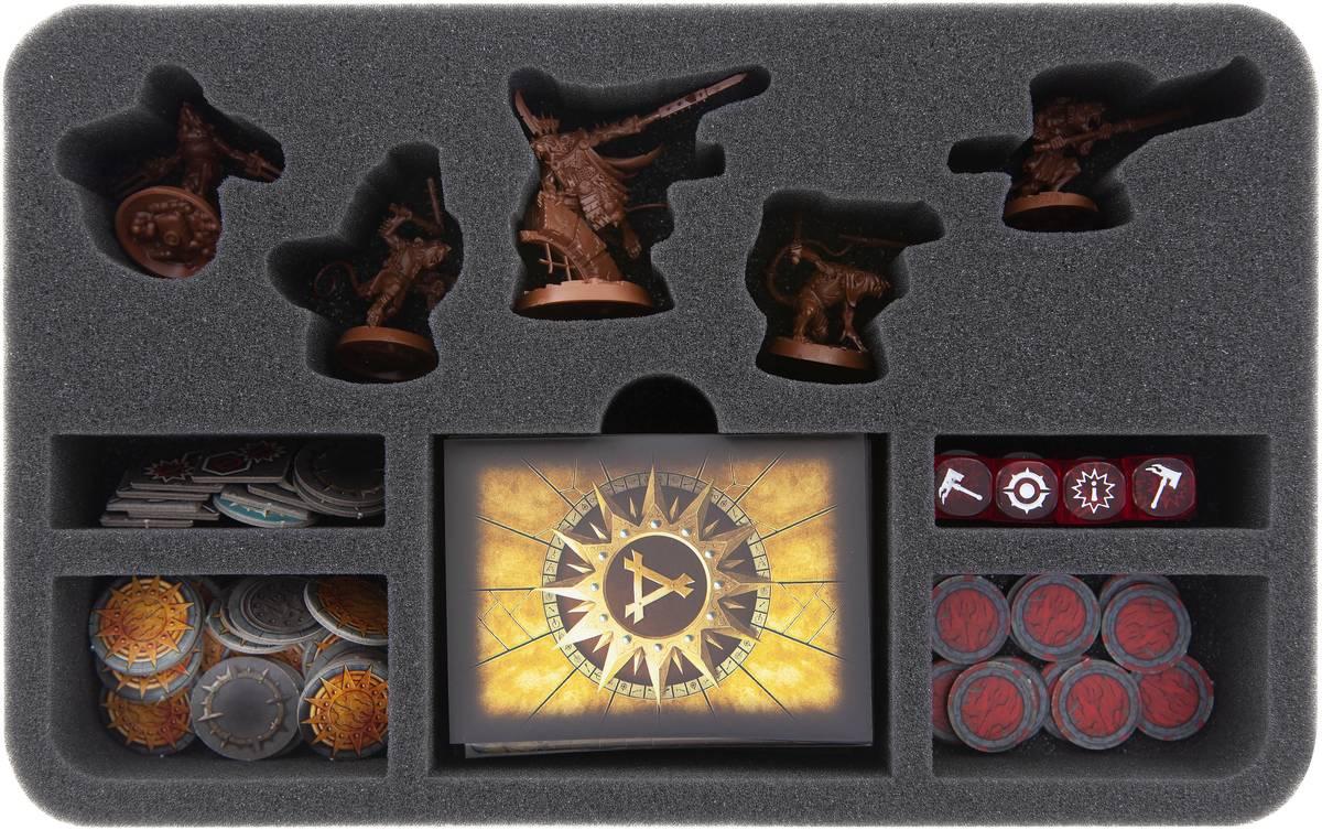 HSMEBD050BO Schaumstoffeinlage für Warhammer Underworlds: Shadespire – Zwistklaues Schwarm