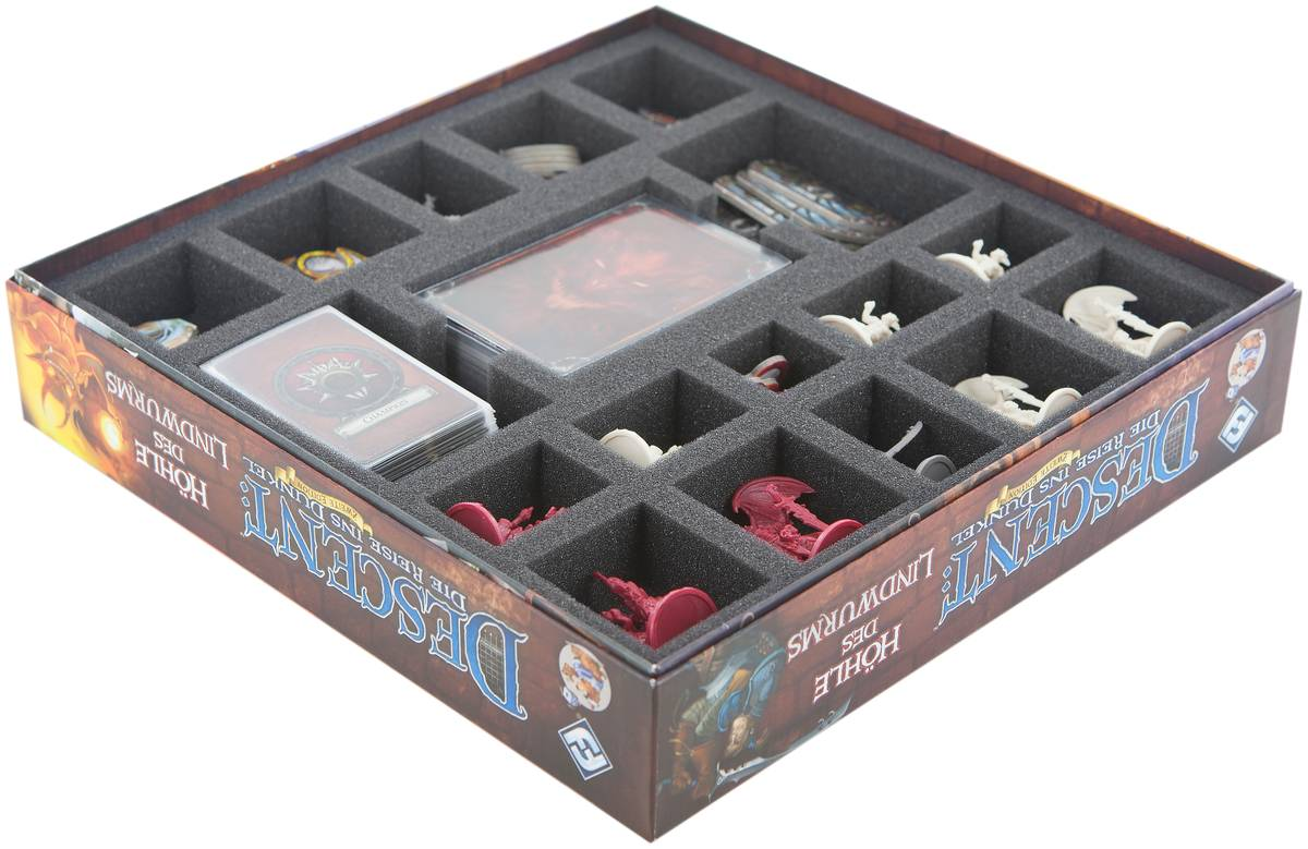 Foam tray set for Descent: Journeys in the Dark 2nd Edition - Lair of the Wyrm board game box