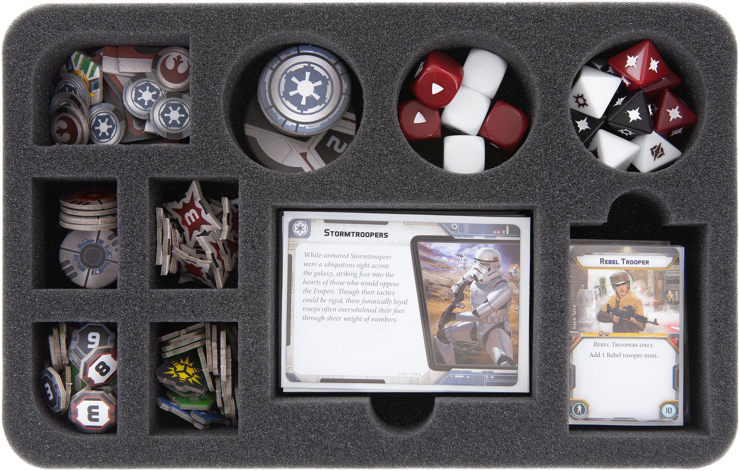 Hs045lg03 Foam Tray For Star Wars Legion Dials Token And Accessories Feldherr Figure Cases Free European Shipping Available I Store Bags Backpacks And Foam Tra