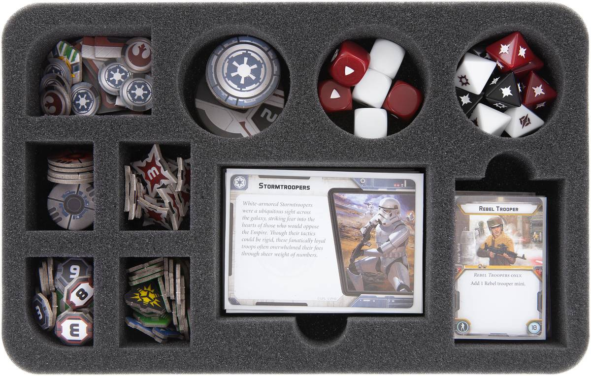 HS045LG03 foam tray for Star Wars Legion dials, token and accessories