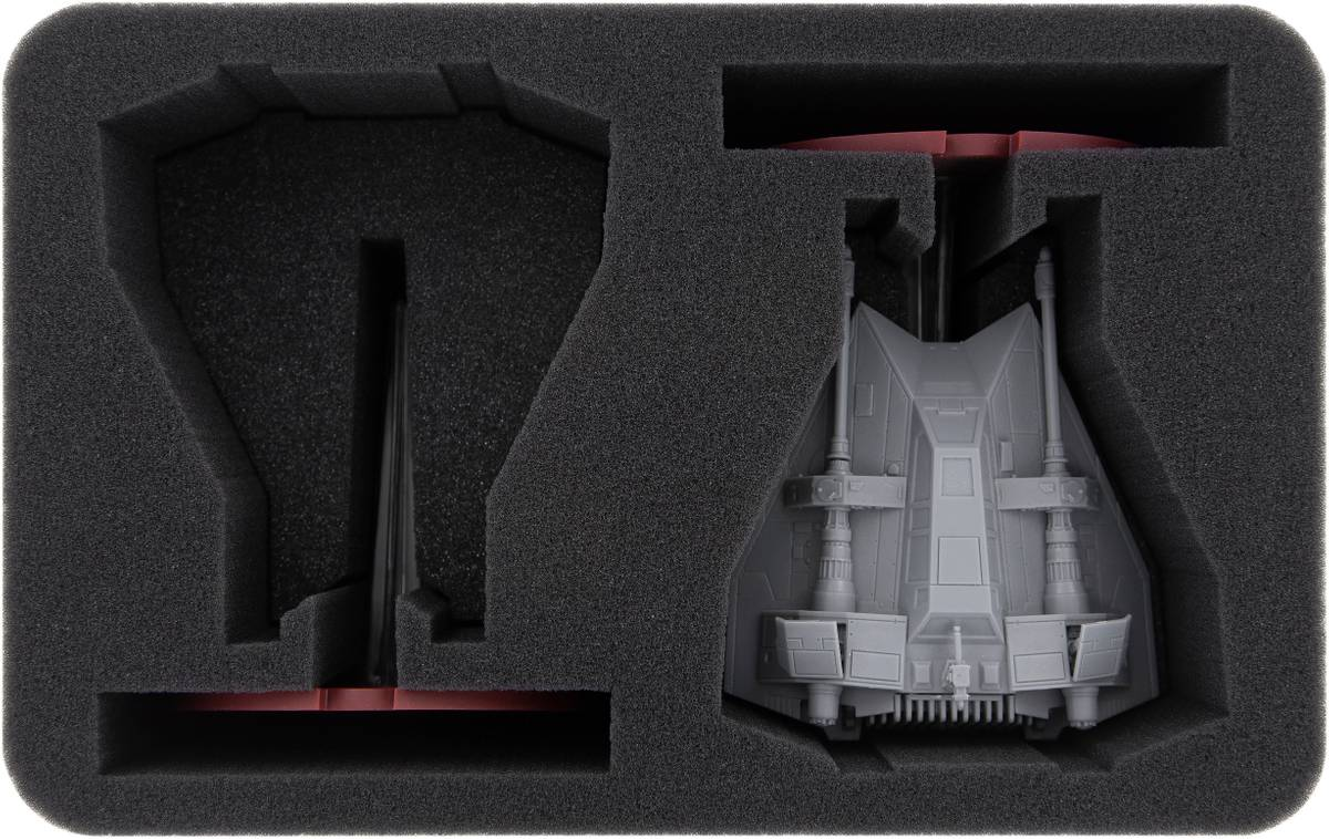 HS110LG04 foam tray for 2 x Star Wars Legion T-47 Airspeeder