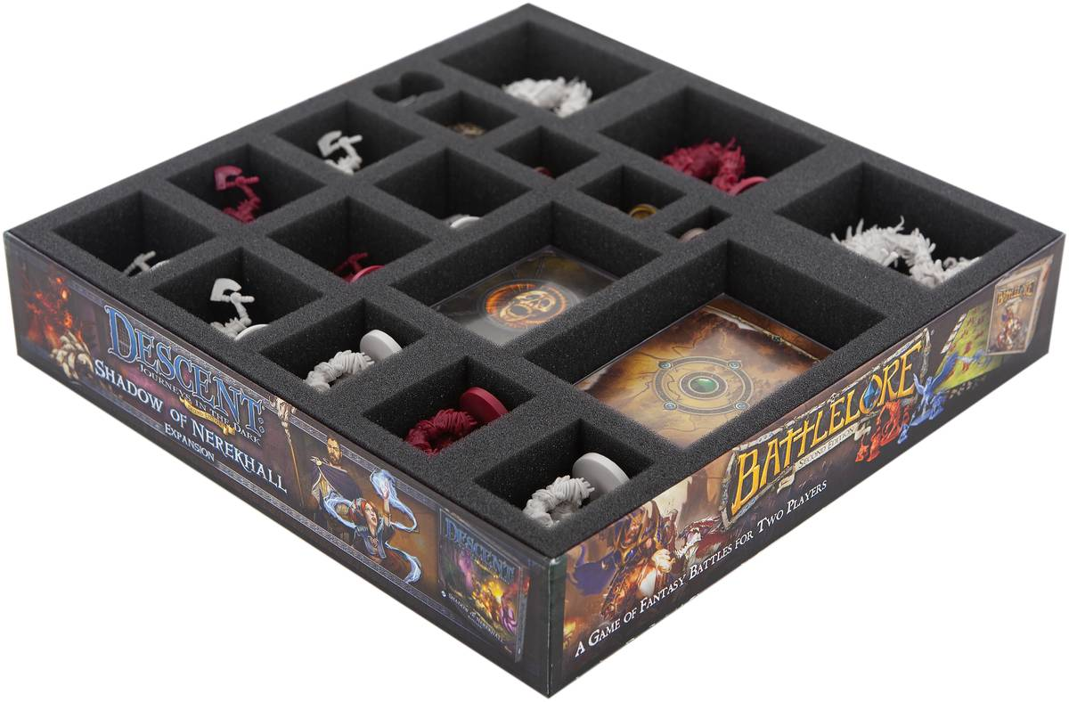 Foam tray set for Descent: Journeys in the Dark 2nd Edition - Mists of Bilehall board game box