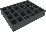 FSJQ060BO 60 mm (1.96 inches) full-size Figure Foam Tray with 26 slots