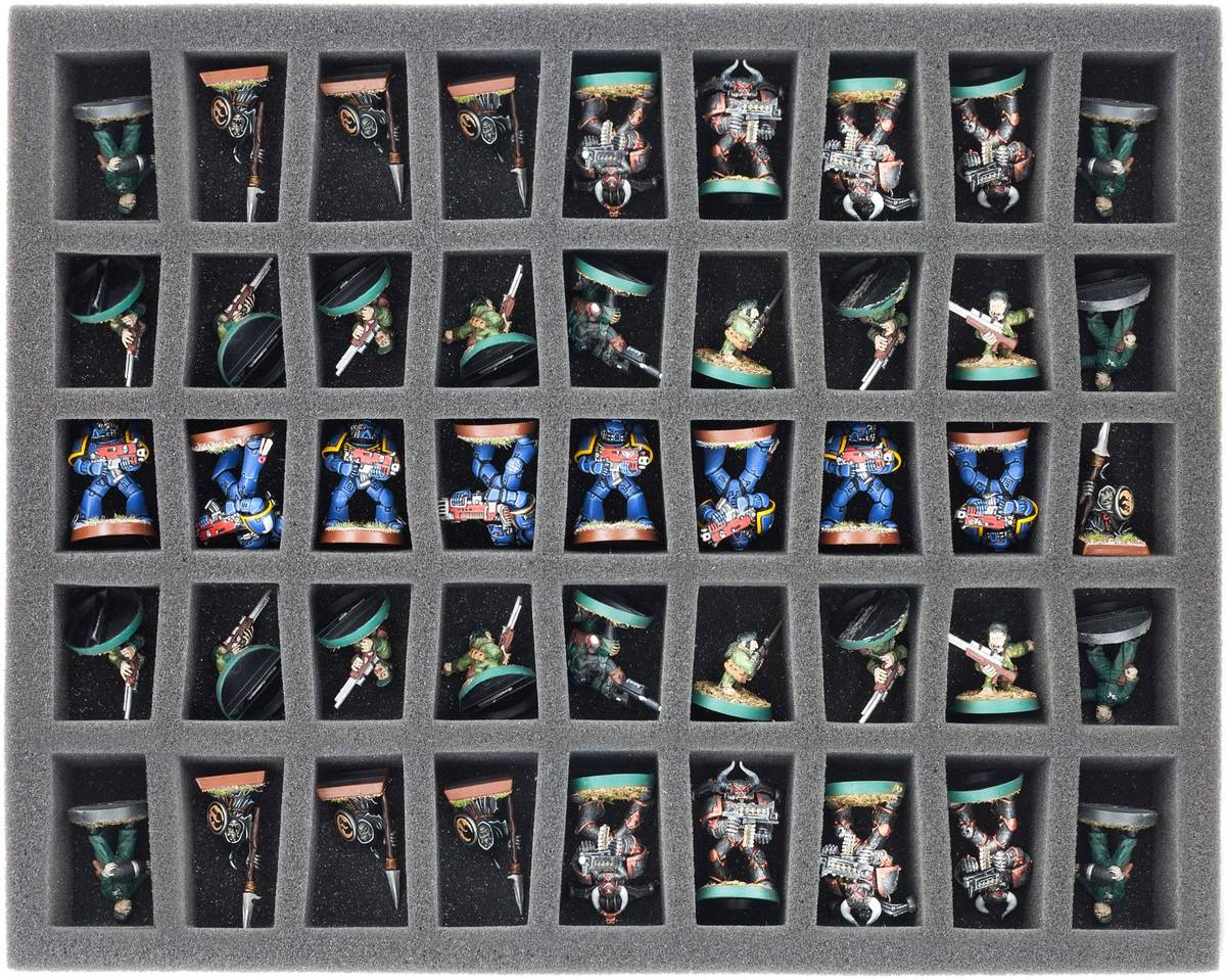 Schaumstoffeinlage mit 45 Fächern für The Walking Dead: All Out War Miniatures Game Core Set