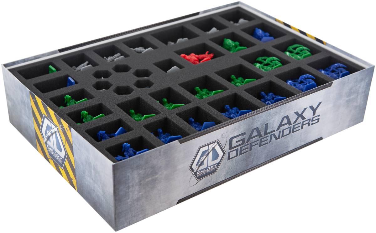 Feldherr foam tray set for Galaxy Defenders board game box